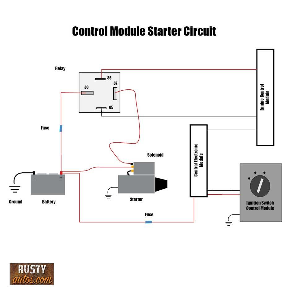 Control module starter circuit