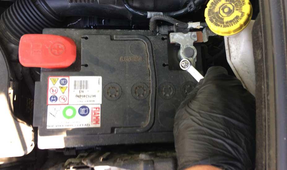 Battery terminal check