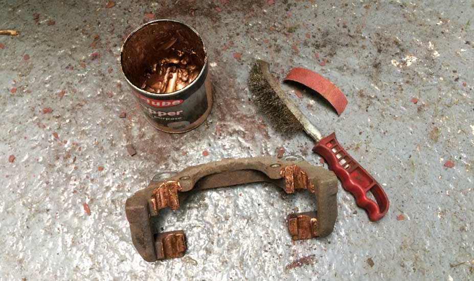 Brake carrier cleaning
