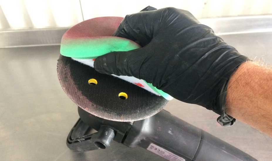 Velcro buffer pad