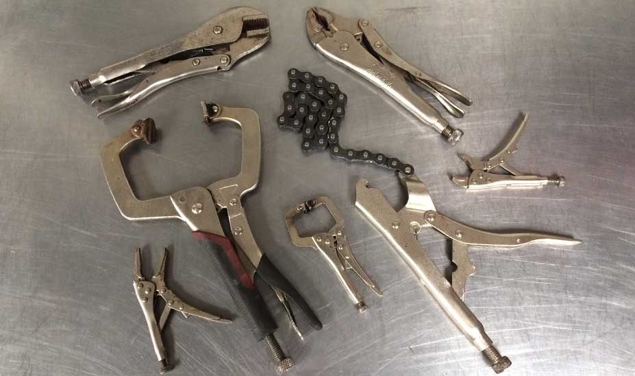Selection of vice grips
