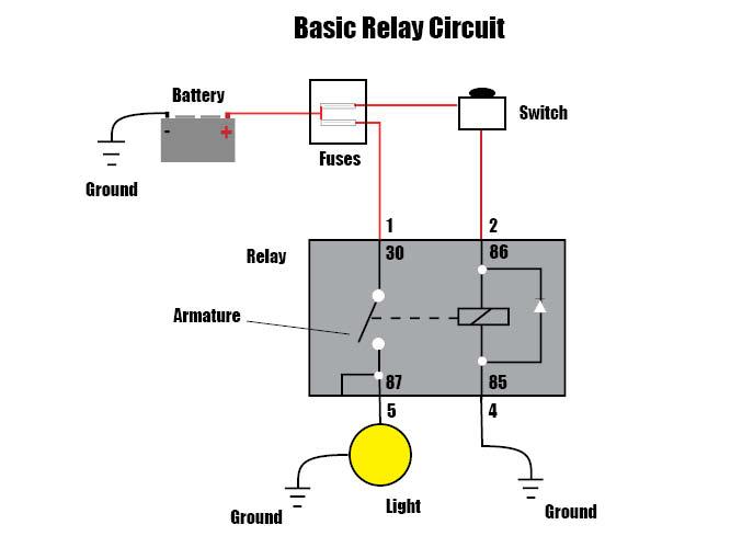 Car relay circuit