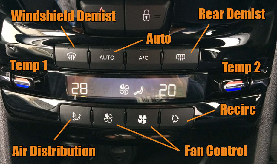 Car Heater control panel