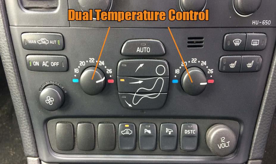 Hvac temperature controls