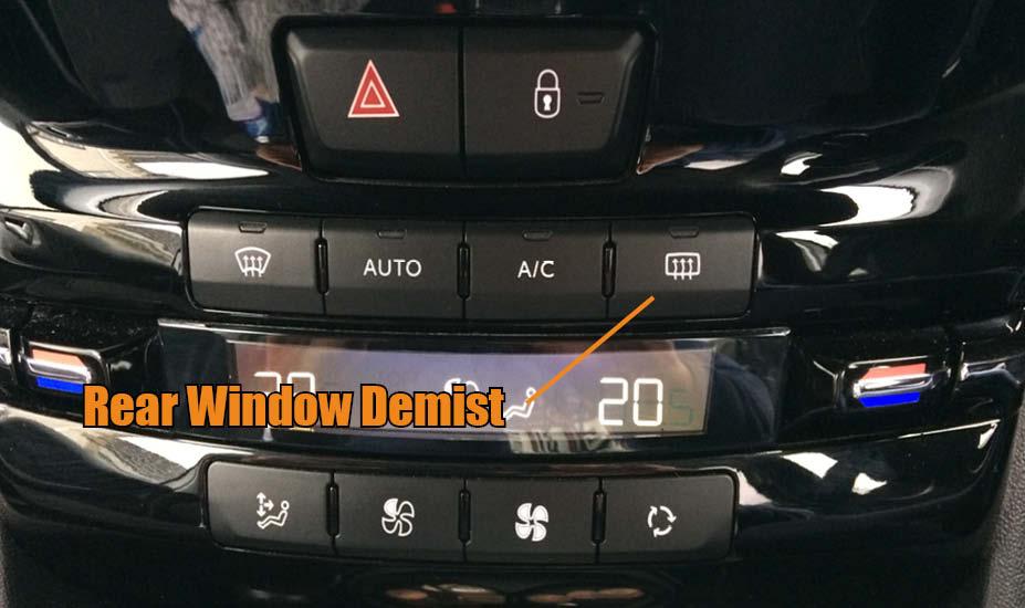 Rear window demist