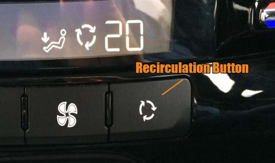 Air recirculate button