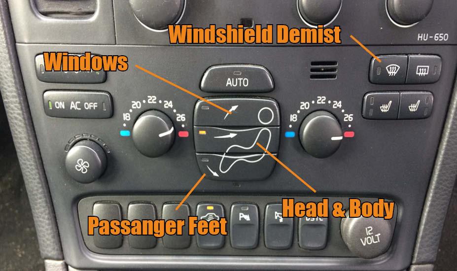 Car heater controls