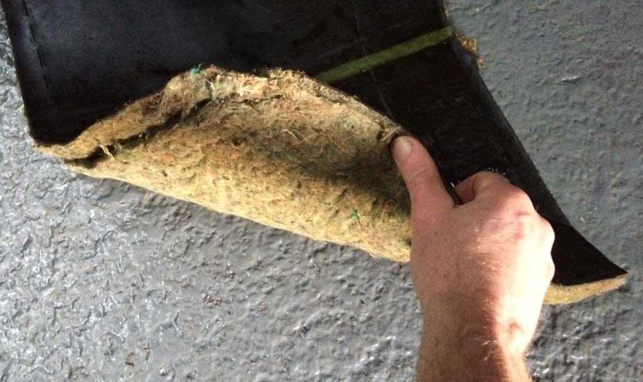 Wet car floor mats