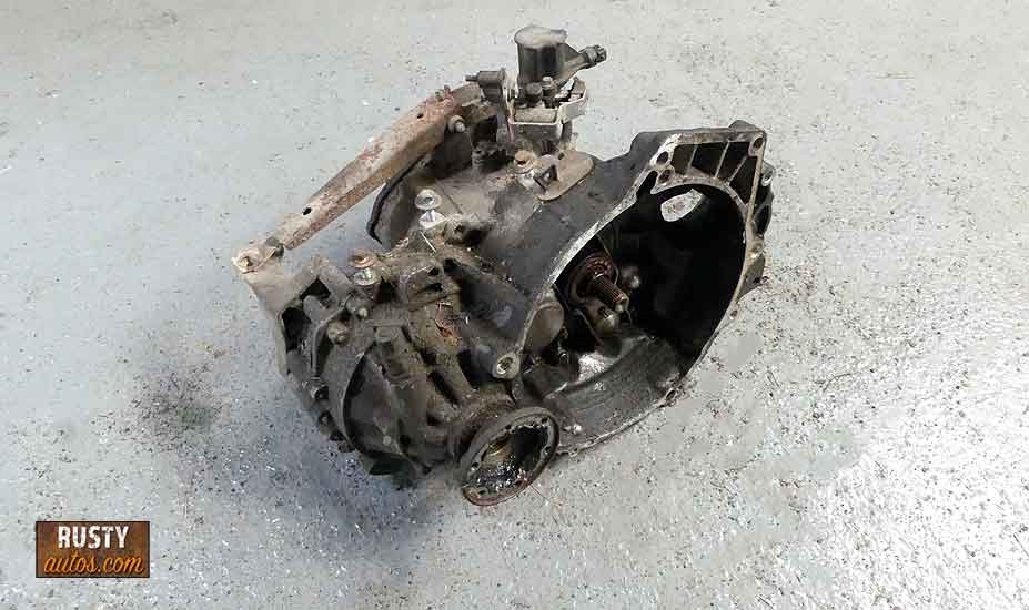Transmission out of vehicle