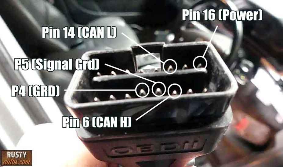 Scan tool plug pin check