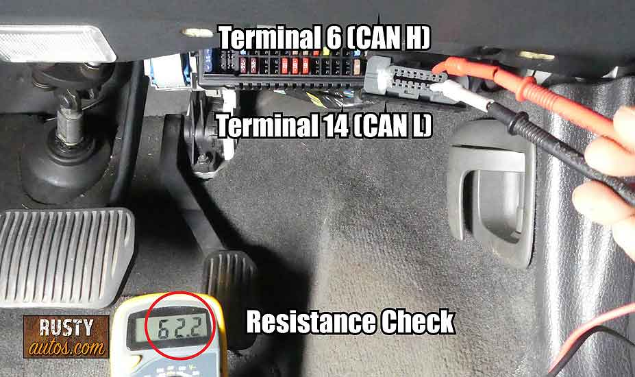 CAN Circuit resistance check