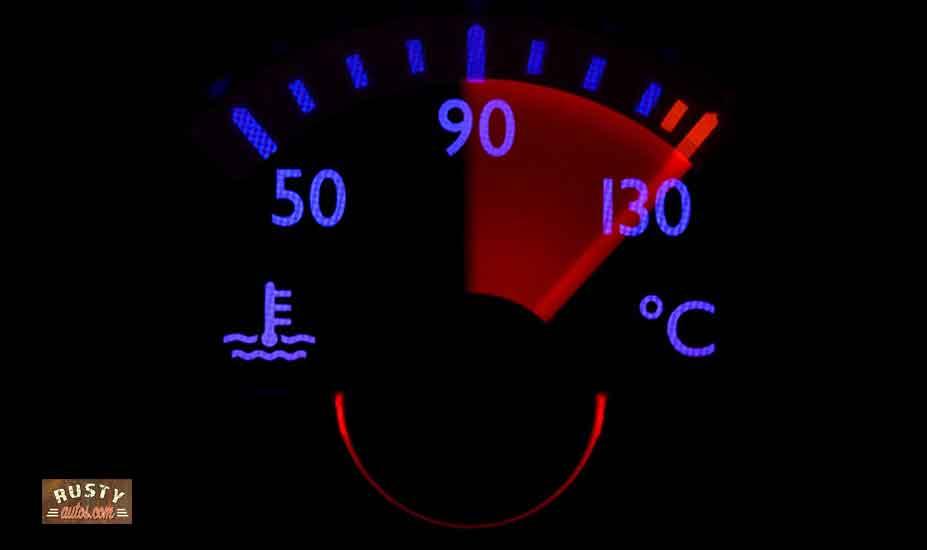 Car temperature gauge