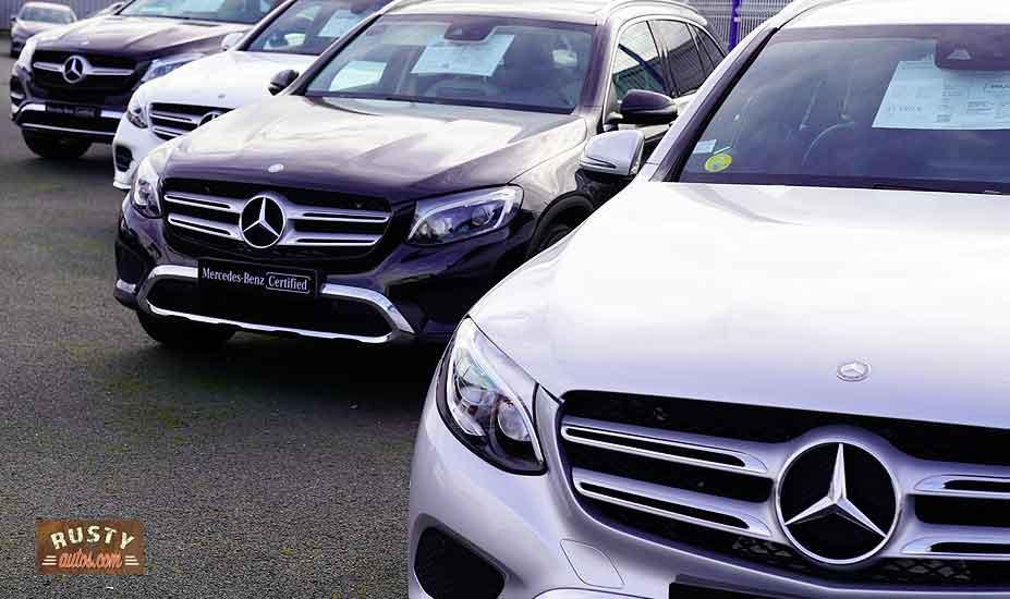 Mercedes car lot