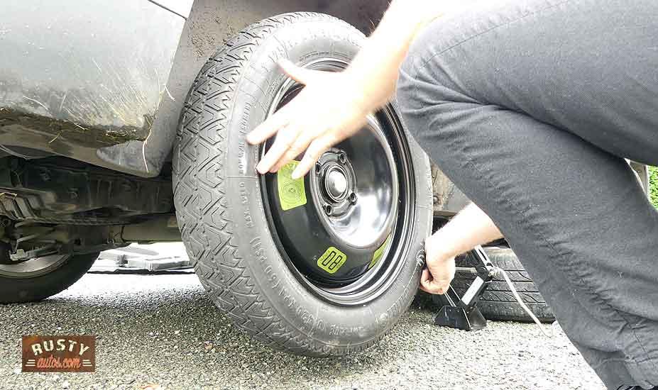 Mount spare wheel