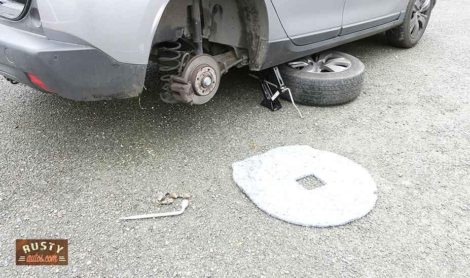 Wheel under vehicle