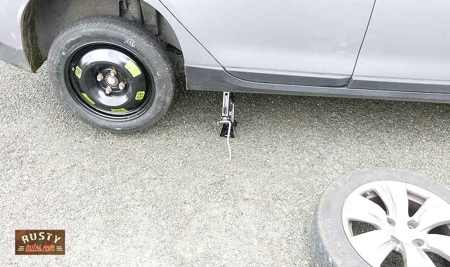 Lower vehicle from jack
