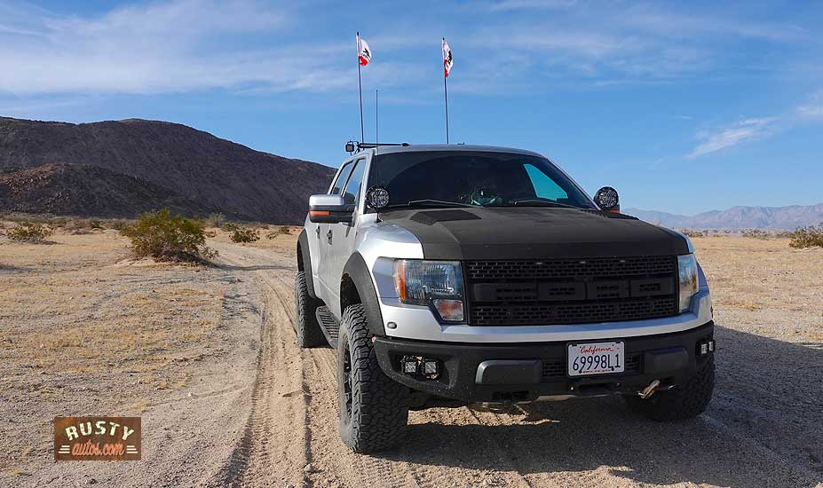 Ford F150 on dirt trail